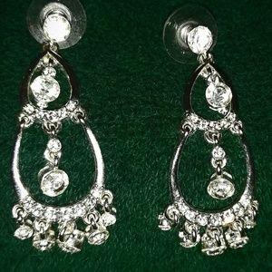 Elegant Rhinestone Dangle Earrings GLAM